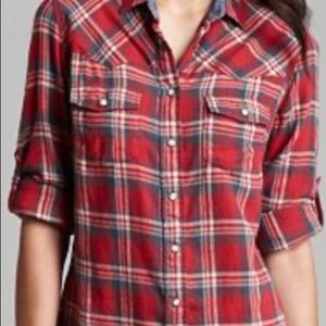 Jachs girlfriend BEA Red white & black flannel XL